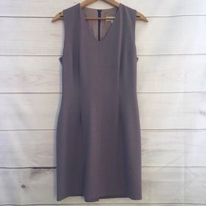 Vintage Purple Fitted Tank Fully Lined Mini Dress